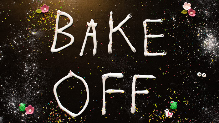 bake off written in icing